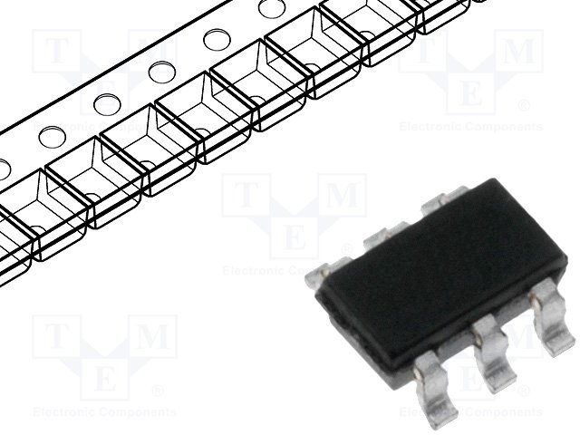 картинка  DIODES INCORPORATED BCR401UW6-7
